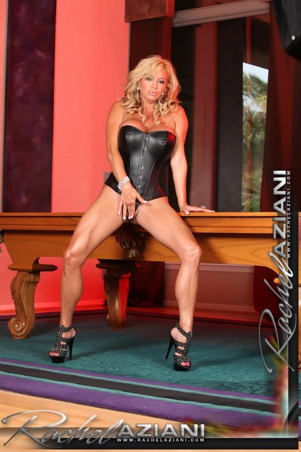 Rachel aziani black corset and panties